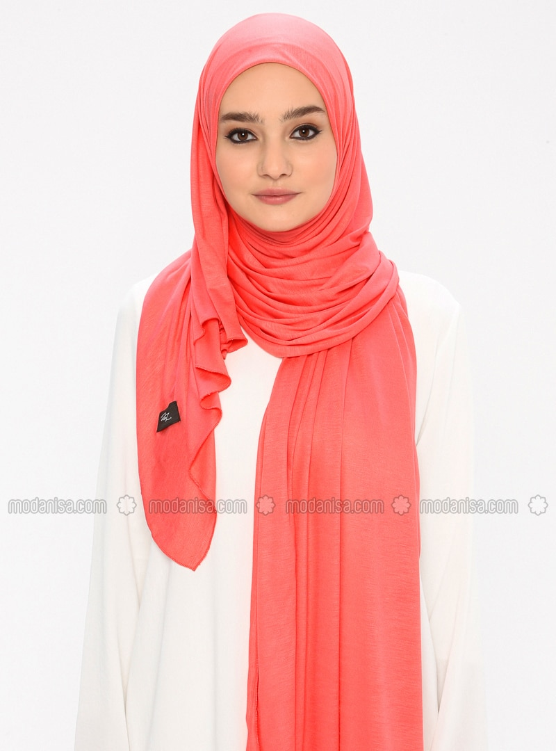 Coral - Plain -  - Shawl
