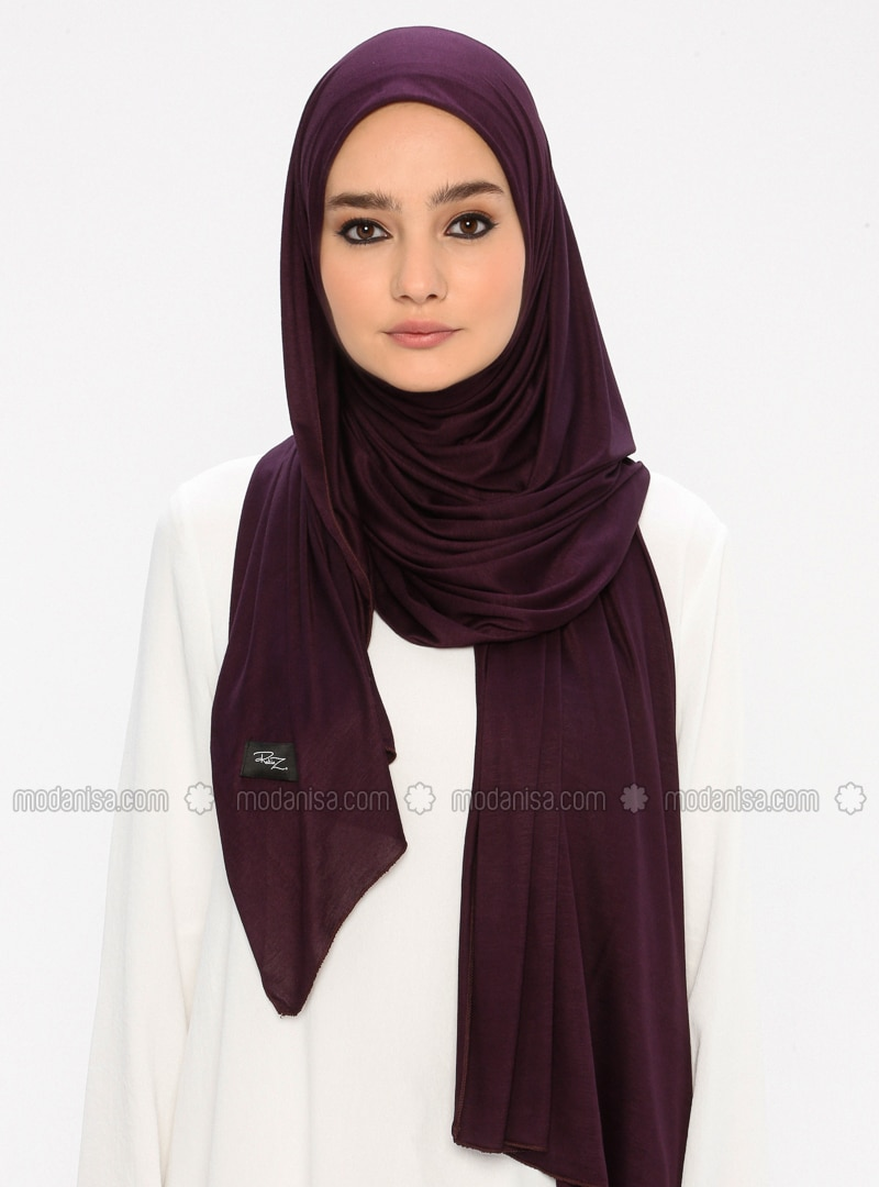 Plum - Plain -  - Shawl