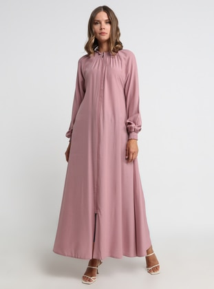 Dusty Rose - Unlined - Crew neck - Viscose - Abaya
