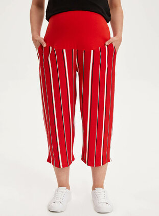 Red - Maternity Pants