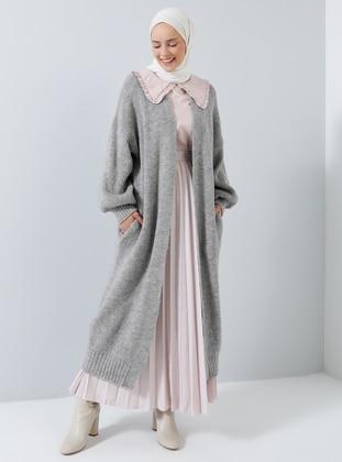 Silver tone - Acrylic - Cotton - Cardigan - Benin