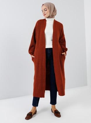 Terra Cotta - Acrylic - Cotton - Cardigan