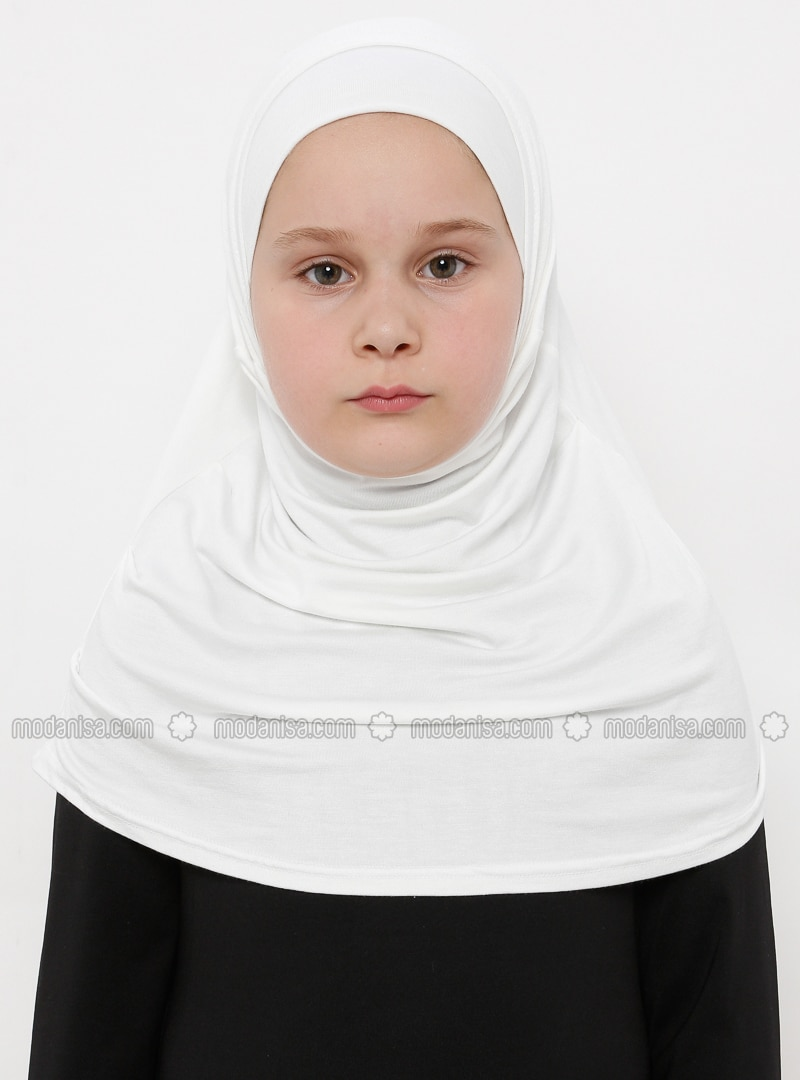 White - Ecru - Simple - Viscose - Bonnet