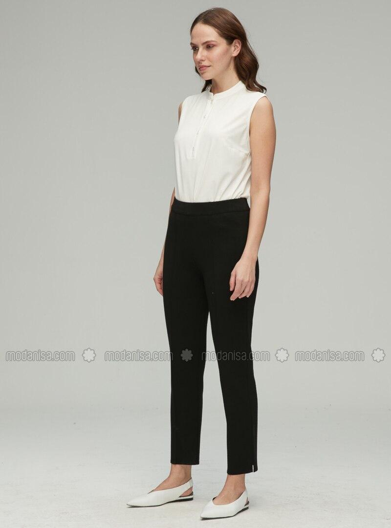 Black - Rayon - Nylon - Pants