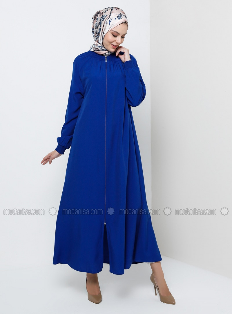Saxe - Unlined - Crew neck - Viscose - Abaya