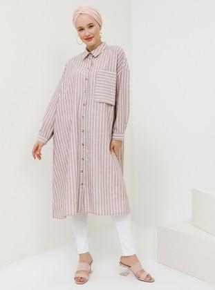 - Stripe - Point Collar - Tunic