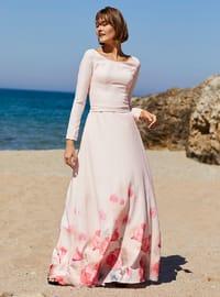 Multi - Multi - Boat neck - Fully Lined -  - Dress