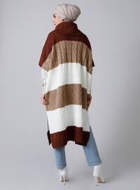 Cinnamon - Crew neck - Unlined - Acrylic -  - Poncho