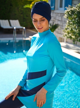 Turquoise - Fully Covered Swimsuits