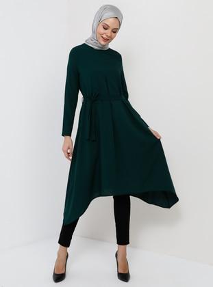 Green - Emerald - Crew neck - Tunic