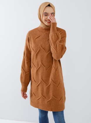Bronze - Polo neck - Acrylic -  - Tunic