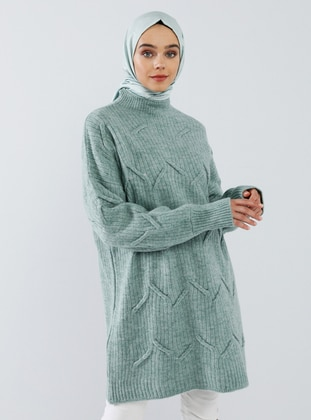 Mint - Polo neck - Acrylic -  - Tunic