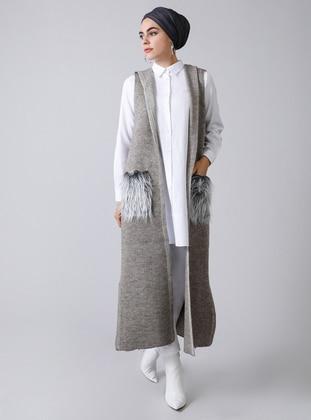 Mink - Unlined - Acrylic -  - Vest - Refka