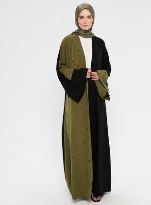 Black - Khaki - Unlined - Abaya