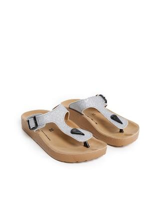 Silver tone - Sandal - Girls` Slippers