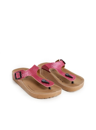 Pink - Sandal - Girls` Slippers - Twigy