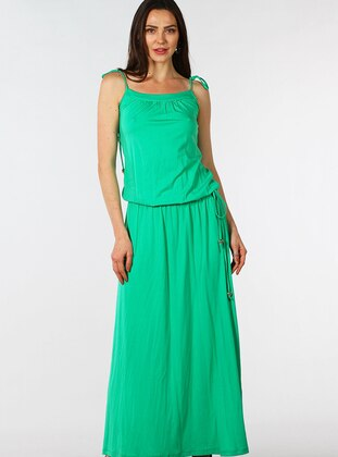 Green - Sweatheart Neckline - Fully Lined - Dress