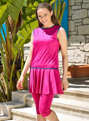 Pink - Fuchsia - Fully Lined - Half Covered Switsuits