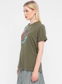 Multi - Khaki - T-Shirt