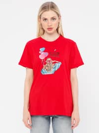 Multi - Red - T-Shirt