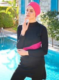 Black - Fully Covered Swimsuits