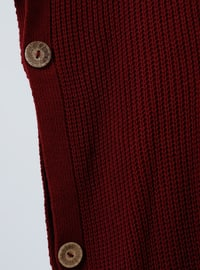 Cherry - Polo neck - Unlined - Acrylic -  - Poncho