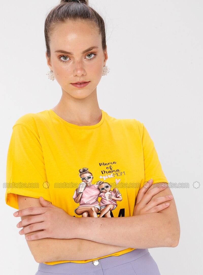 Yellow - Mustard - T-Shirt
