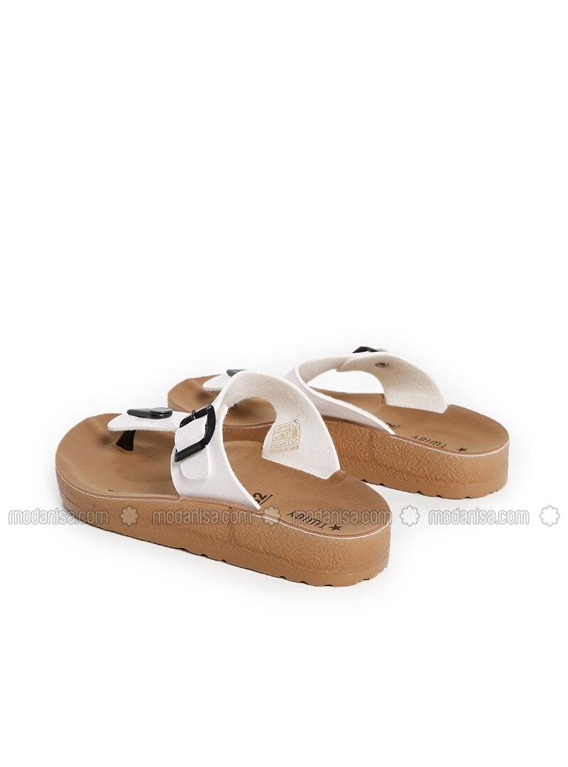 acheter populaire e364a 0fad2 Blanc - Sandales / Chaussons - Sandales pour Fille