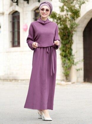 Plum - Shawl Collar - Fully Lined - Dress