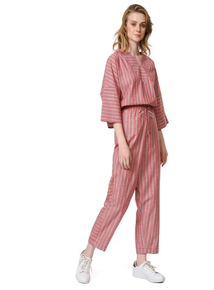 Coral - Stripe - Cotton - Pants