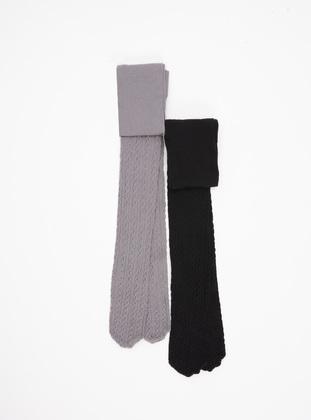 Gray - Girls` Socks