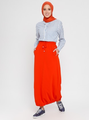 Orange - Fully Lined - Skirt