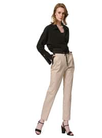 Beige - Cotton - Pants