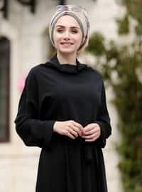 Black - Shawl Collar - Fully Lined - Dress