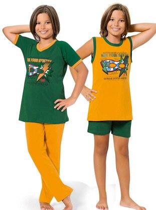 Green - Orange - Boys` Pyjamas