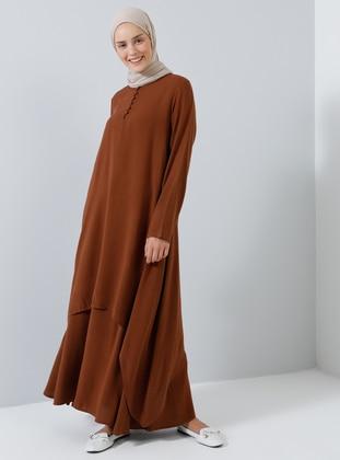 Tan - Hac ve Umre - Unlined - Cotton - Suit