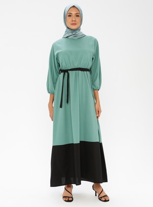 Black - Mint - Crew neck - Unlined - Dress