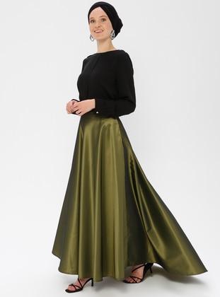 Olive Green - Green - Unlined - Skirt