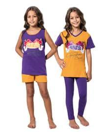 Mustard - Purple - Girls` Pyjamas