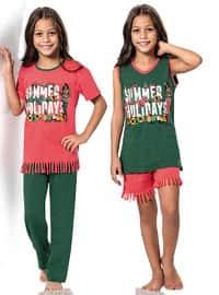 Green - Orange - Girls` Pyjamas