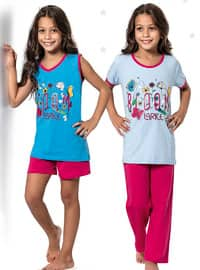 Blue - Multi - Girls` Pyjamas