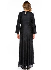 Navy Blue - Fully Lined - Muslim Plus Size Evening Dress