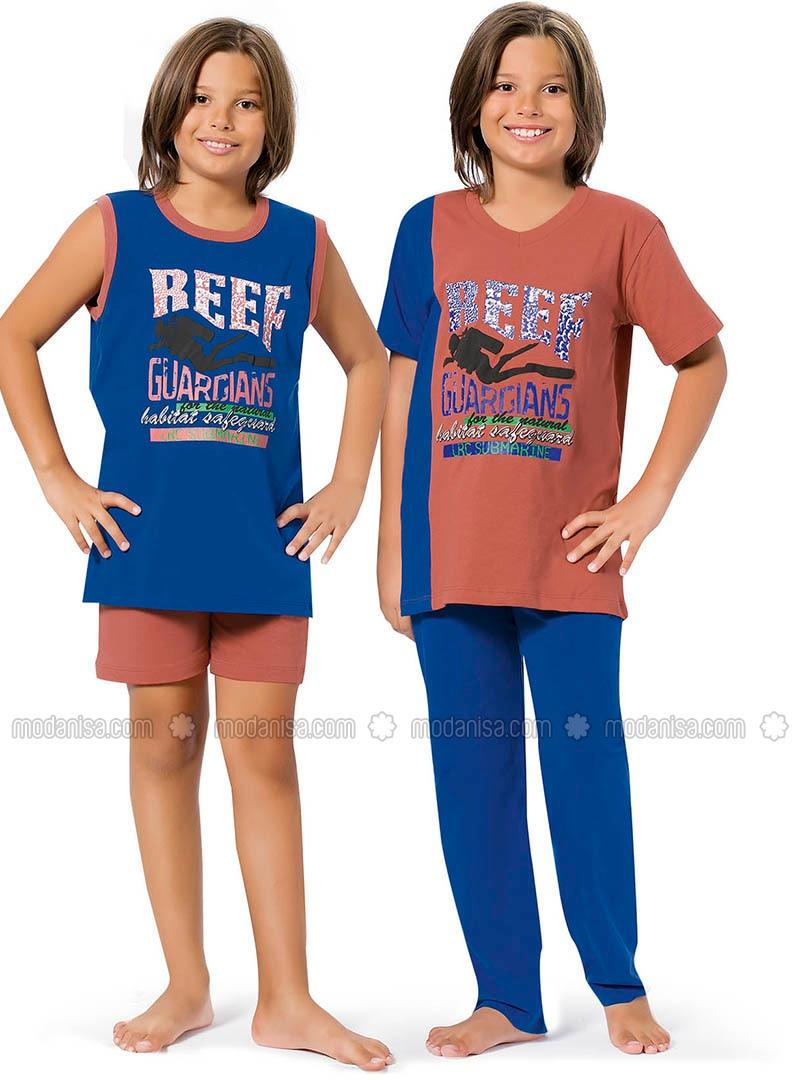 Blue - Orange - Boys` Pyjamas