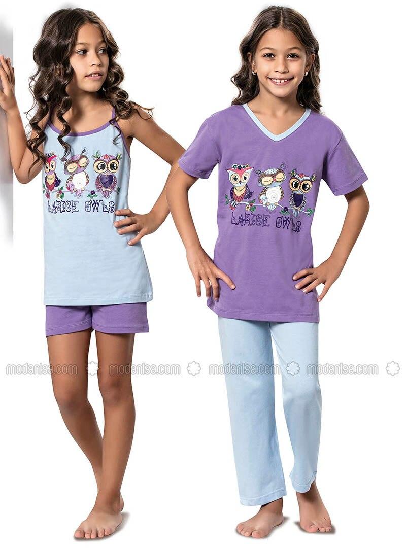 Purple - Multi - Lilac - Girls` Pyjamas