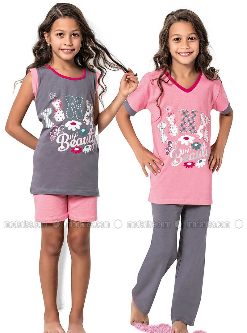 Pink - Gray - Girls` Pyjamas