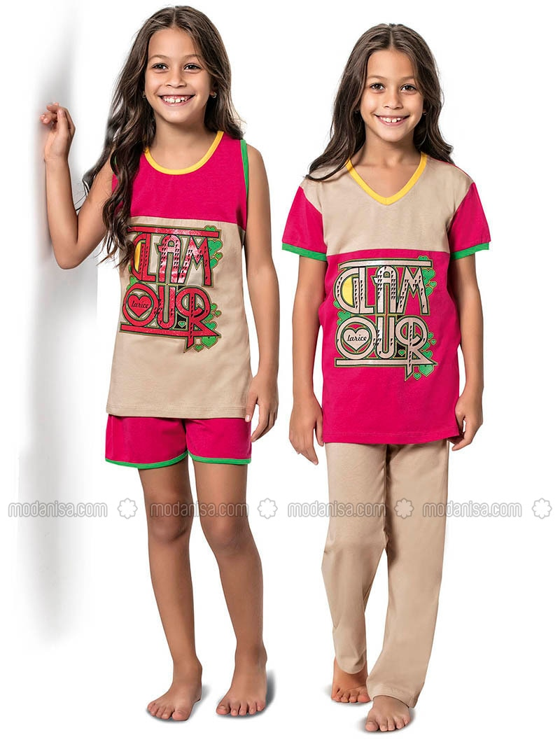 Pink - Multi -  - Girls` Pyjamas
