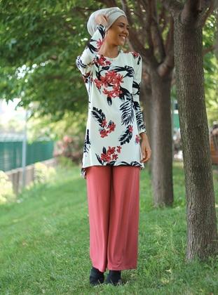 Dusty Rose - Floral - Unlined - Suit