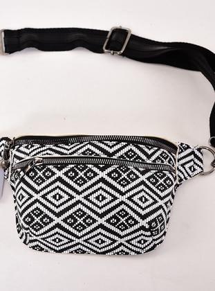 Black - White - Bum Bag