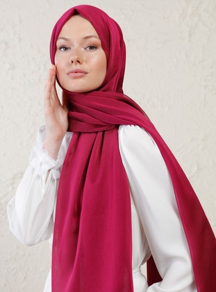 Cherry - Plain - Shawl - Şal