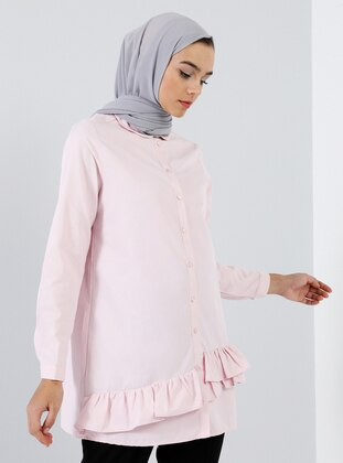 Pink - Round Collar -  - Tunic